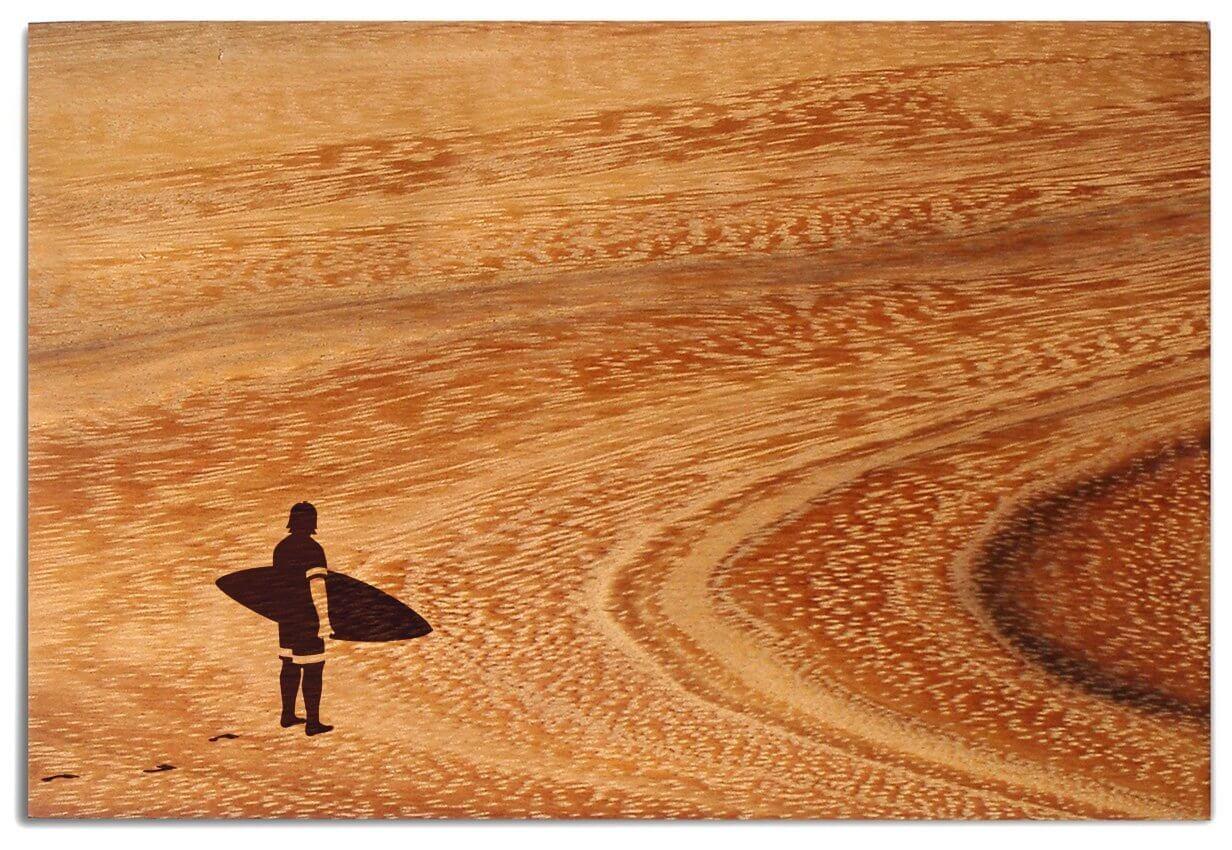 Weihnachtsgeschenke für Surfer : Frühstücksbrett Surfer