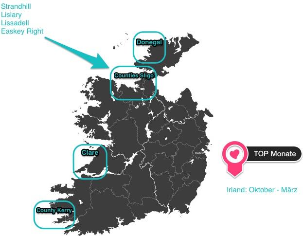 wo kann man in irland gut surfen