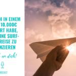 Wie ich in einem Jahr 10.000€ gespart habe, um mir meine Surf-Weltreise zu finanzieren